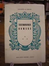 (ROSCHINI-SERVI DI MARIA)DE SIMONE:TESTIMONIANZA ROMANA