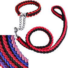 Nylon Dog Collar and Leash Set Extra Large - Medium for Pitbull Golden Retriever