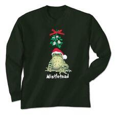 T shirt Christmas Mistletoad Green S M L XL 2XL Long Sleeve NWT Toad Mistletoe