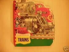 Vintage Sturdi-Contour Book TRAINS 50s