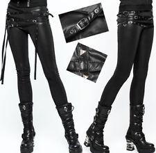 Leggings pantalon gothique punk lolita fashion sangle lien clous métal Punkrave