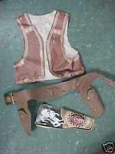 H Vintage Gabriel Ind. Cowboy toy holster lot vest toys