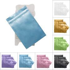 100 Flat Aluminum Foil Zip Lock Mylar Bag Resealable Zipper Clip Repacking Pouch