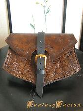 Pirate Renaissance Victorian Larp Leather Belt Pouch
