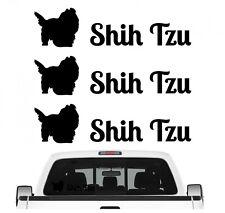 Shih Tzu Tibet Aufkleber 3er Set Hundeaufkleber Hundemotiv Hund Folie