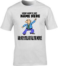 personnalisé 50th anniversaire T-shirt homme drôle ajouter nom au choix Change