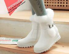 stivali stivaletti comodi scarpe donna bianco pelo sintetico  simil pelle 8729