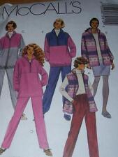 McCALL'S #7911 - LADIES WINTER WARM UP SUIT & FLEECE SEPARATES PATTERN  22-32 uc