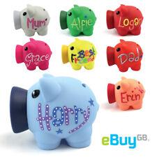 Personalised PIGGY BANK Custom Money Box Pot of Dreams Savings Fund Hand Drawn