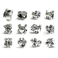 Sterling Silver Zodiac Horoscope Bead for European Charm Bracelets