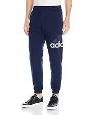 "New Adidas 31"" Logo Tapered Jogger Sweat Pants Navy Blue CF0774 Men's 2XL $50"