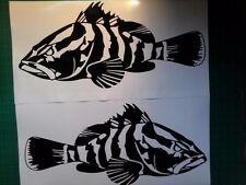 (2) Grouper Boat Decal fish Fishing graphic sticker window salt water ocean