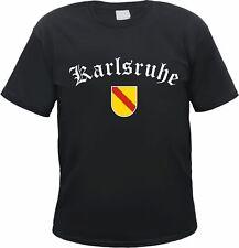 KARLSRUHE T-Shirt - Altdeutsch mit Baden Wappen - S bis 3XL - Schwarz 52e122059d