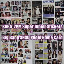 k pop star SNSD SoShi Bigbang 2pm Super junior KARA photo Name Card & stickers