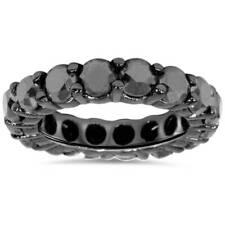 5ct Treated Black Diamond Eternity Ring 14K Black Gold
