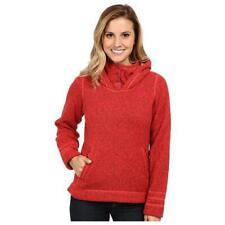 Women The North Face Jacket Crescent Fleece Thick Hoodie Rambutan Pink Orange XS