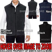 Big & Tall Mens Polar Fleece Vest with Pockets LT,XLT,2XLT, 3XLT, 4XLT, 5XLT NEW