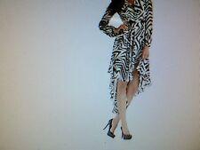 Brand New From Kardashian Kollection Black & White High Low Dress  BNWT Sexy