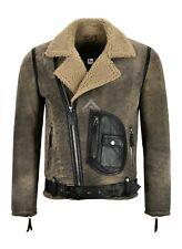 Mens RAF B3 Sheepskin Jacket Real Leather Pilot Flying Shearling Jacket ASTER