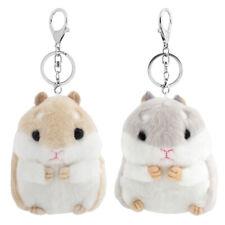 New listing Fashion Cute Mini Hamster Mouse Fluffy Plush Pendant Toy Dolls Car Key Chain