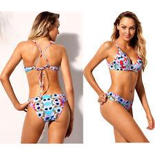 Maillot de bain bikini bikini imprimé floral impressionnant de vacances femme