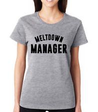 MELTDOWN MANAGER boss cute funny queen feminist pride Women's Crew Neck T-Shirt