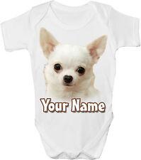 CHIHUAHUA DOG design personalizzato Baby Gilet / Gro / BODY * Grande Regalo & denominata *