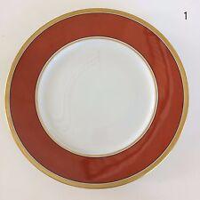 "Richard Ginori Contessa Rust Red Large Dinner Plate 10 3/8"" Discontinued Italy"