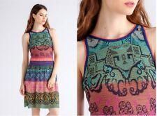 ivko Vestito Sciolto Stitch Blu colorato lavorato a maglia di 81622