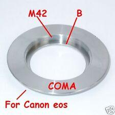 Raccordo adattatore con battuta D. Lens M42 a Canon EOS