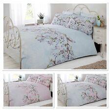 Eloise Birds Floral Quilt Cover Lace Print Bedding Set ALL SIZES ~ FREE P&P !!