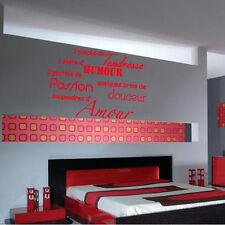 Sticker Mural Texte Recette de l'Amour