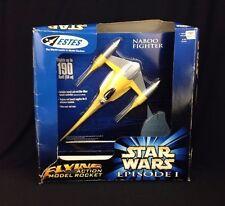 Vintage Estes Star Wars Episode 1 E1 Naboo Fighter Flying Action Model Rocket