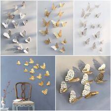 12stk 3D Schmetterlinge Wandtattoo Wanddeka Wand Deko Wandtatoo Wandaufkleber