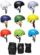 Skateboard Helmet Elbow/Knee/Wrist Pad Combo Bmx Inline ADULT TRI PACK PADS