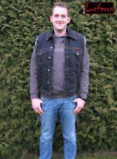 Luciferus Classics Weste Jeansweste Jeans Jeansjacke Jacke schwarz blau bis 5XL