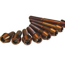 M6 Tornillos De Titanio Cónico De Bronce Color Increíble Calidad Garantía De Por Vida
