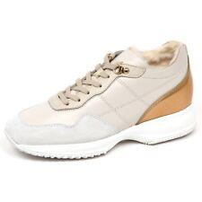 E4810 sneaker donna ivory HOGAN INTERACTIVE scarpe interno ecopelo shoe woman