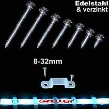 Schrauben für LED Band Stripe Halter Strip Befestigung Montage Halterung RGB