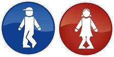 Restroom Bathroom Toilet Men Women Vinyl Sticker Decal Business Sign Funny