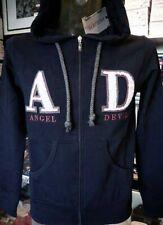 Felpa uomo Angel Devil con zip, logo in rilievo, tasche e cappuccio art 14010045