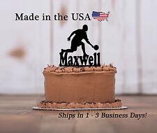 Male Bowler Cake Topper, Bowling, Team, Personlized Birthday Keepsake-LT1175