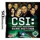 CSI: Crime Scene Investigation: Dark Motives (Nintendo DS, 2007) - European Vers