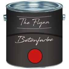 The Flynn Betonfarbe Rot Fassadenfarbe 2,5L 5L 10L RAL 3000 Feuerrot