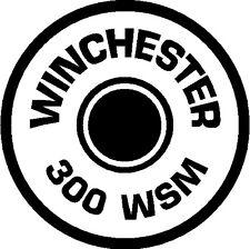 300 WSM BULLET BRASS Gun Rifle Ammunition exterior decal round sticker car wall