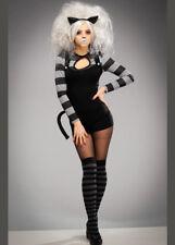 Da Donna Gotico Nero Wicked Stregatto Costume