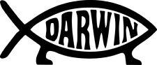 Darwin Fish Decal Window Bumper Sticker Car Decor Evolution Evolve Feet Science
