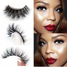 100% Real 3D Mink Makeup Cross False Eyelashes Eye Lashes Extension Handmade-new