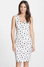 French Connection Women's Polka Spray Sleeveless Dress, White/Black 2 $148
