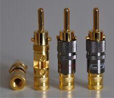 BANANA PLUG connector connettori diffusori acustici speaker ampli 24k gold